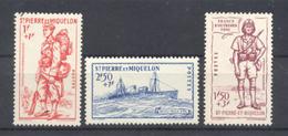 SAINT PIERRE ET MIQUELON - N° 207 à 209 Neufs  * Avec Trace De Charnière - St.Pierre Et Miquelon