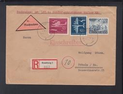 Dt. Reich Nachnahmebrief 1944 Rumburg Nach Döbeln - Storia Postale
