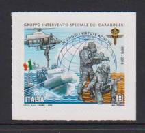 ITALY, 2018, MNH, POLICE, CARABINIERI, SPECIAL INTERVENTION FORCE, HELICOPTERS, BOATS,  1v - Police - Gendarmerie