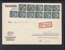 Dt. Reich Brief1941 Brunschweig Nach Pirna - Se-Tenant