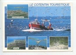 Le Cotentin Touristique Multivues Chalutier Bateau Pêche Saint Vaast La Hougue Siouville Port-Bail Gouville - Autres Communes