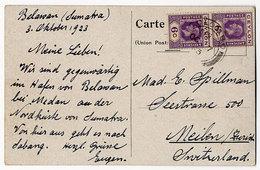 Ceylon,  S.S. Prins Nederlanden, Sumatra-Belawan - Ceilán (...-1947)