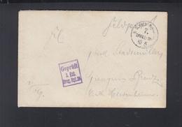 Dt. Reich Feldopost Geprüft 3. Esk. Drag. Rgt. 26 - Germania