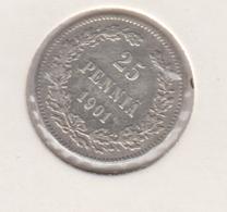 @Y@   FINLAND   25  Pennia 1901  Zilver / Ag     (2739) - Finlandia