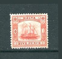 Malta Stamp Sailboat 1905 Ship - Malta