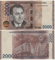 """ARMENIA  New 2'000 Dram   """"JUST  ISSUED""""  Attractive Design  Pnew  2018 - Arménie"""