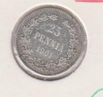 @Y@   FINLAND   25  Pennia 1901  Zilver / Ag     (2737) - Finnland