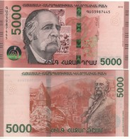 """ARMENIA  New 5'000 Dram   """"JUST  ISSUED""""  Attractive Design  Pnew  2018 - Arménie"""