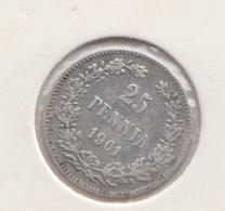 @Y@   FINLAND   25  Pennia 1901  Zilver / Ag     (2736) - Finlandia