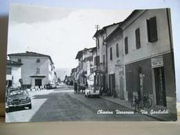 1963 - Pistoia - Chiesina Uzzanese - Via Garibaldi -  Sali E Tabacchi - Alfa Romeo Giulietta - Animata Cartolina D'epoca - Pistoia