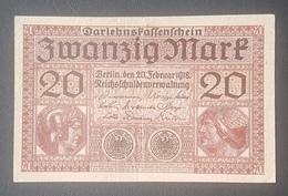 EBN8 - Germany 1918 Banknote 20 Mark Pick 57 WWI - XF - [ 2] 1871-1918 : Duitse Rijk