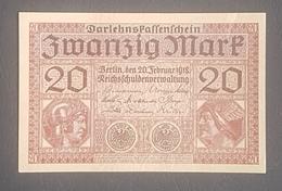EBN8 - Germany 1918 Banknote 20 Mark Pick 57 WWI - A-UNC - [ 2] 1871-1918 : Duitse Rijk