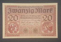 EBN8 - Germany 1918 Banknote 20 Mark Pick 57 WWI - UNC - [ 2] 1871-1918 : Duitse Rijk