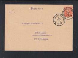 Dt. Reich PK 1922 Vereinigung Der Milch Produzenten Stuttgart Lochung Perfin - Briefe U. Dokumente