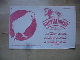 Beynes Orovialiment Poussin Cochon Vache Poule Buvard - Animals