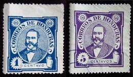 1896 Honduras Yt 76, 78 . Celio Arias (1835-1890) . Neuf Trace Charnière Et Oblitéré - Honduras