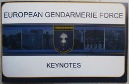 CARNET FASCICULE GENDARMERIE EUROPE EUROGENDFOR LEX PACIFERAT - Police & Gendarmerie
