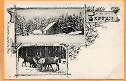 Gruss Aus Thuringen Monchof U Die Hirsche Germany 1900 Postcard - Germany