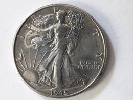 Half Dollar Liberty 1945 Argent. Silver. - 1916-1947: Liberty Walking