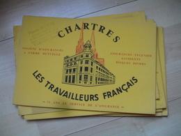 Lot De 20 Chartres Aux Travailleurs Francais Buvard - Buvards, Protège-cahiers Illustrés
