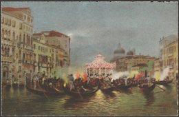 Serenate, Canal Grande, Venezia, C.1920s - Scrocchi Cartolina - Venezia (Venice)