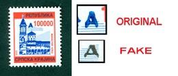 Croatia 1993 Occupation RSK Serbian Krajina 100.000 Overprint ORIGINAL Denomination Michel 21 - Croatie