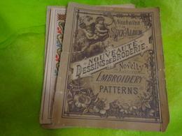 Album Alphabets+divers  10 Pages-  18x14 Cm Environ-neuheiten In Stick Album Novelty Embroidery Patterns Type Sajou - Loisirs Créatifs