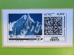 Montimbrenligne - Les Alpes - Lettre Verte Max 20 G - 0.85 € - Sur Fragment - 08.06.2016 - Sellos Personalizados (MonTimbraMoi)