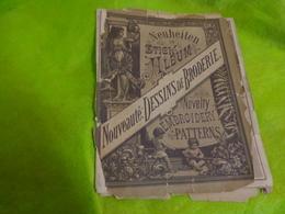Album Dessins Alphabets+divers  10 Pages-  22x16 Cm Environ-neuheiten In Stick Album Novelty Embroidery Patterns - Loisirs Créatifs
