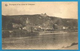 (G043) BOUVIGNES - Ruines Château De Crèvecoeur, La Meuse, Bateau à Vapeur Tirant Barge - Dinant