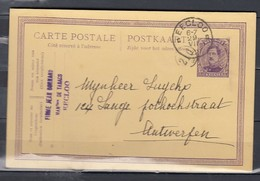 Postkaart Met Stempel Eecloo Naar Antwerpen - 1915-1920 Albert I