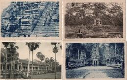 91Md   Cambodge Ruines D'Angkor Lot De 18 Cpa - Cambodja