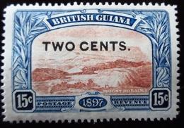 1899 British Guiana Mi 105 . Surcharged In Black . Neuf Trace Charnière - Guyane Britannique (...-1966)
