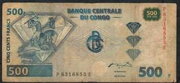 CONGO D.R. P96a 500 FRANCS 2002 G&D Munich #P--E    FINE 1 Central  P.h. - Congo