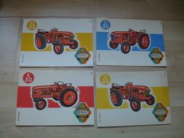 Lot De 4 Tracteur Renault  Agriculture   Buvard - Landwirtschaft