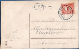 Netherlands, Grootrond Postmark Santpoort (dorp) 29 AUG 16, - Periode 1891-1948 (Wilhelmina)