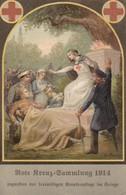 AK Rote Kreuz-Sammlung 1914 Zugunsten Der Freiwilligen Krankenpflege Im Kriege -  Patriotika - 1918 (39168) - Guerre 1914-18