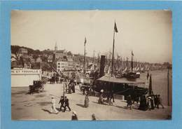 TROUVILLE (calvados) - Le Port, Photo Vers 1900 Format 17,5cm X 11,9cm . - Lieux