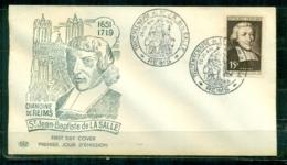 """FDC """"Edition PAC """" FRANCE-1951 # St Jean Baptiste De La Salle ,Reims   (N°Yvert 882)  - Cote 90 Euros - FDC"""