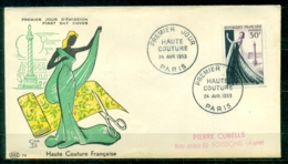 """FDC """"Edition PAC """" FRANCE-1953 # Haute Couture Francaise  (N°Yvert 941 )  - Cote  13.00 Euros - FDC"""