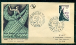 """FDC """"Edition FA """" FRANCE-1953 # Haute Couture Francaise  , Obl. Ill. Paris (N°Yvert 941 )  - Cote  13.00 Euros - FDC"""