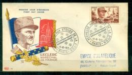 """FDC """"Edition PAC """" FRANCE-1953 # Leclerc, Maréchal De France , Obl. Illustr. Paris   (N°Yvert 942 )  - Cote  15,00 Euros - 1950-1959"""