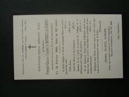 Faire Part De Décès Généalogie NOBLE IMAGE PIEUSE - Obituary Notices
