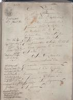 Important Manuscrit De 100 Pages.H.Amoureux à Amboise,M.Moreau à Tours,E.Gillet à Richelieu....vente Par Licitation.... - Manuscripts