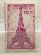 Timbre France YT 429 (*) 1939, Cinquantenaire De La Tour Eiffel, 90c+50c Lilas-rose (cote 9,15 Euros) – 87 - France