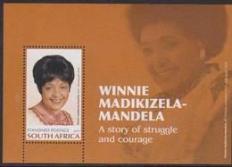 SOUTH AFRICA, 2017, MNH,  FAMOUS WOMEN, WINNIE  MADIKIZELA-MANDELA,  S/SHEET - Famous People