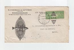 Sur Enveloppe De L'entreprise Mc Cormack Et Zatzman Timbre Airmail CAD New York G.P.O. 1936. Vers Haïti: CAD. (1061x) - Marcophilie