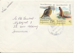 Argentina Cover Sent To Denmark 30-11-1995 Topic Stamps BIRDS - Argentina
