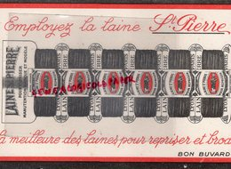69- LYON- 75- PARIS- RARE BUVARD LAINE SAINT PIERRE POUR REPRISER - LAINES- - Textile & Clothing
