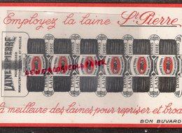 69- LYON- 75- PARIS- RARE BUVARD LAINE SAINT PIERRE POUR REPRISER - LAINES- - Textile & Vestimentaire
